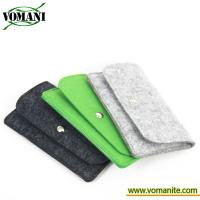 For iphone 7 plus 5.5 inch Gray universal wool felt mobile phone bag case