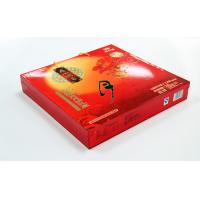 China Elegent Red Printed Recycled Paper Gift Boxes , Moon Cake packaging on sale