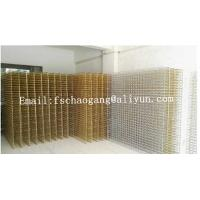 Mattress / Sofa Gold Plated Springs System , Compressed Bonnell Spring Coil Unit