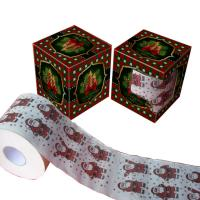 Quality christmas printed toilet paper 2ply 250 sheets 100% virgin pulp China manufacturer wholesale