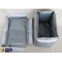 Quality Removable Thermal Insulation Jacket For Actuator Grey Silicone Fiberglass Fabric wholesale