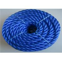 Cheap Blue polypropylene auto tow rope automatic tow rope towing car rope with shackle for sale