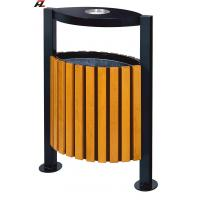 Quality Metal and Wood Street Rubbish Bin-Rubbish Barrel wholesale