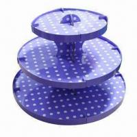 Quality Pretty Recycling Floor Cake Stand for Wedding wholesale