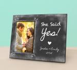 Quality Engaged Photo Frame - She Said Yes - Personalized Engagement Frame - Engagement Reveal -Pe wholesale
