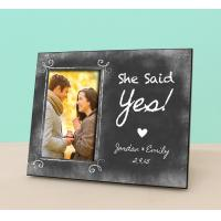Cheap Engaged Photo Frame - She Said Yes - Personalized Engagement Frame - Engagement for sale