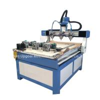 Cheap 3 Heads 3 Rotary Axis Wood Metal Stone CNC Engraving Cutting Machine for sale