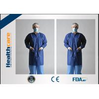 Economical Lint Free PP Disposable Lab Coats With Knitted Collar and Velcro