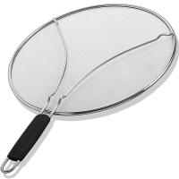 China Fine Mesh Stainless Steel Frying Pan Grease Kitchen Splatter Screen on sale