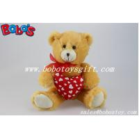 Quality Valentines Day Gifts Plush Teddy Bear With Red Heart Pillow wholesale