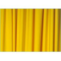 Quality Knitted Plain Yellow 100D 4 Way Stretch Polyester Spandex Fabric for Swimsuit / Lingerie 1.7m * 180gsm wholesale