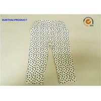 Quality Eco Friendly Cute Baby Girl Leggings Blue Dots With Elastic Waistband wholesale