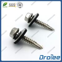 Quality Stainless Steel 304 Hex Washer Head Self Drilling Screws with Bonded Sealing Washer for sale