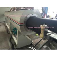 China Thermal insulated pipes jacket pipe extrusion line / PE palstic pipe extruding machine on sale