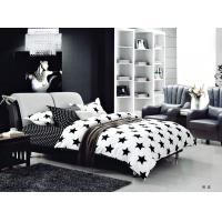 Quality 100 Percent Polyester Girls Bedroom Bet Sets Black And Whtie Striped Bedding wholesale
