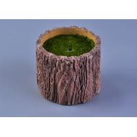 Quality Recyclable Wood Timber Brown Cement Candle Flower Jar Eco - friendly wholesale