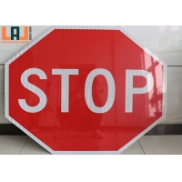 Octagon Shape Aluminum 0.025'' Reflective Warning Signs For Parking Lot for sale