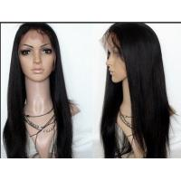 China Natural Black Lace Front Human Hair Wigs Shedding Free Queenlike Hair on sale