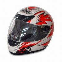 China Full-face Motorcycle Helmet, ABS, Anti-scratch Visor and Advanced Channeling Ventilation System on sale