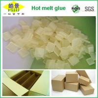 Buy cheap Carton Packaging Yellow Clear Hot Melt Adhesive Pellets EVA Long Open Time from wholesalers