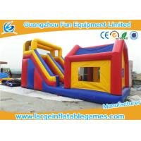 Quality Durable Commercial Inflatable Slide With House / Outdoor Inflatable Kids Slide With Professional Design wholesale