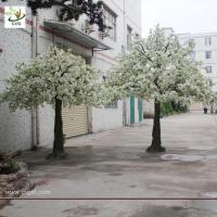 Quality UVG artificial white cherry flower trees for indoor wedding decoartion 12ft tall CHR023 wholesale