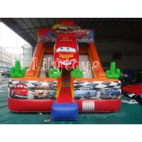 Quality Red Car Large Inflatable Jumping Slide With Repair Kits , Kids Inflatable Slide wholesale