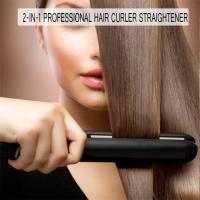 China Hair Straightener and Curling Iron 2 in 1 for Hair Styling, Tourmaline Ceramic Flat Iron for All Hair Types online on sale