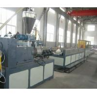 China SJSZ 65 Wood Plastic Extrusion Line , Conical Twin Screw Extruder on sale