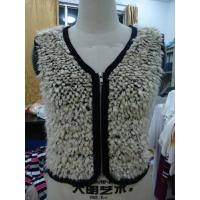 Quality Faux Fur Black Binding Fashionable Winter Coats Sleeveless Zip Up Vest For Lady wholesale