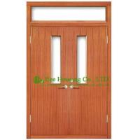 Quality Commercial fire retardant wood doors with glazing,UL Certificated is available wholesale