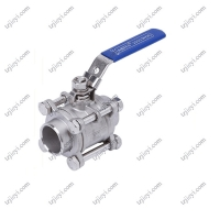 Quality Butt Welding End Connection Pieces Stainless Steel 3 Piece Water Ball Valve wholesale