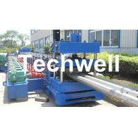 Quality 15KW Highway Guardrail Roll Forming Machine With 7 Rollers Leveling For W Beam Guardrail wholesale