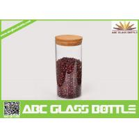 Cheap High quality borosilicate glass jar with wooden lid for sale