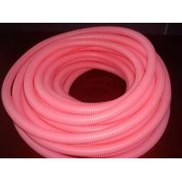 China Pink Corrugated Flexible Tubing PP PE PA  Insulation Tubing Factory on sale