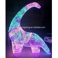 China large outdoor christmas lighted dinosaur on sale