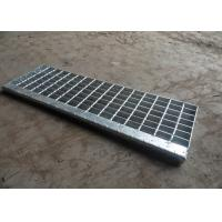 Quality Hot Dip Galvanised Stair Treads , T1 / T2 / T3 / T4 Bar Grating Stair Treads wholesale