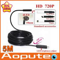 Quality The First HD 720P USB endoscope 10mm lens 4 LED IP67 Waterproof inspection Camera Borescope 5M,mini computer camera wholesale
