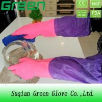 Quality Cleaning Washing Waterproof Pvc Thick Acid And Alkali Resistant Gloves wholesale