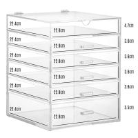 Cheap Hot clear 6 drawer perspex / acrylic makeup organizer for wholesale for sale
