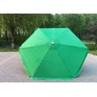 Quality Waterproof Green Round Beach Umbrella Uv Protection For Various Occasions wholesale