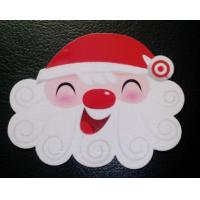 Cheap Popular Christmas Custom Design Plastic PVC Flocking Velvet Cards with ISO standard for sale
