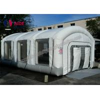 Cheap Customized Size Mobile Paint Booth , Automatic Inflatable Car Spray Booth With 2 for sale