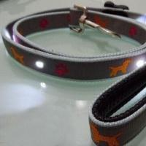 China LED Nylon Dog Leash/Adjustable Waist Belt and Leash, Customized Colors Accepted on sale