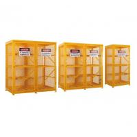 China Gas Cylinder Storage Cabinets powder coated for USA , Europe safety storage on sale