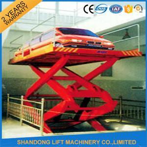 China 5M 3T Basement Hydraulic Scissor Car Lift  Hydraulic Car Lift for 2 Floor Level on sale