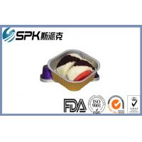 Quality Airline Snacks Disposable Aluminum Baking Pans , Aluminum Foil Cake Pans wholesale