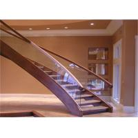 Quality Pvc Handrail Building Curved Stairs Oak Stairs Non Slip AS/NZS 2208 Certificate wholesale