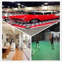 Quality Guangzhou Fireproof PVC floor/exhibitions Floor/gym floor/sport floor /Interlocking Floor wholesale
