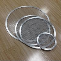 Cheap Aluminum Expanded Mesh Wire Pizza Baking Tray , Metal Pizza Net 6-20 Inch Customized for sale